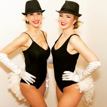 Vancouver showgirls in jazz costume