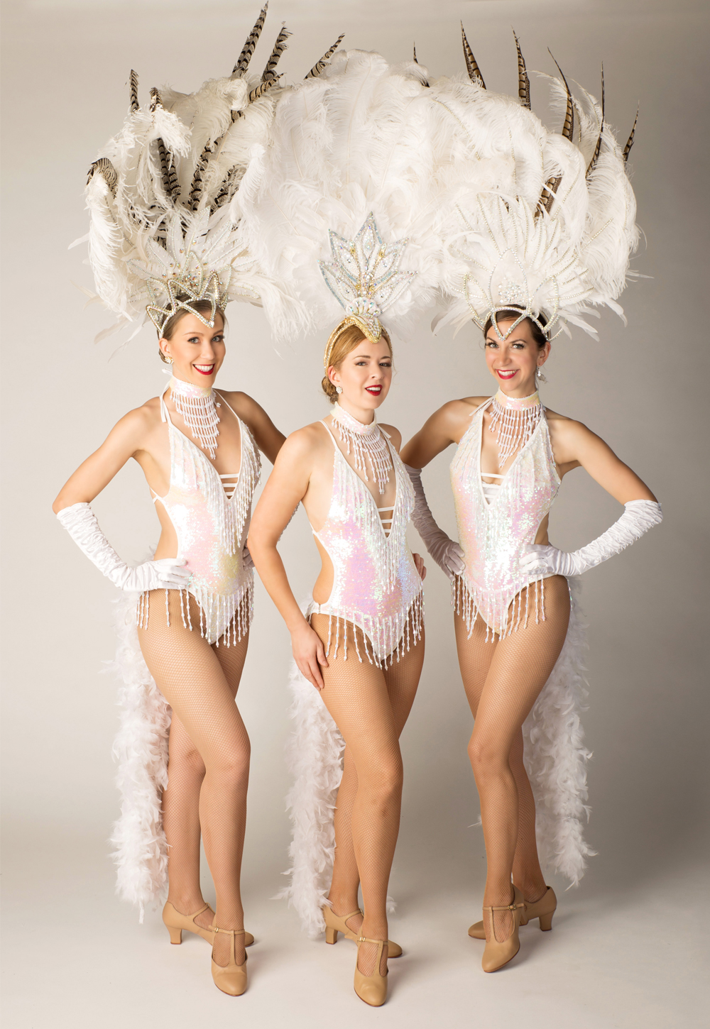 Vancouver Showgirls in White